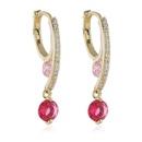 Retro diamond Hao Shi earrings fashion simple new wild earring ear clip NHKQ199466