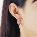 New micro inlaid halo flash diamond earrings S925 silver pin fashion retro simple snake earrings NHKQ199468