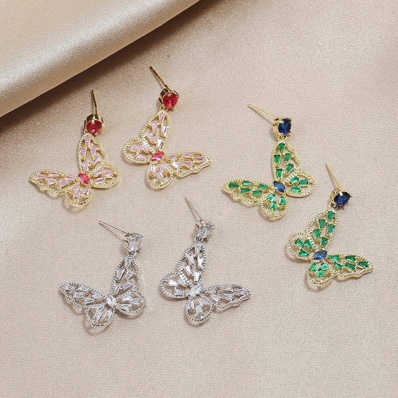 Fashion Full Diamond Niche Earrings Vintage Wild S925 Silver Pin Earrings NHKQ199469