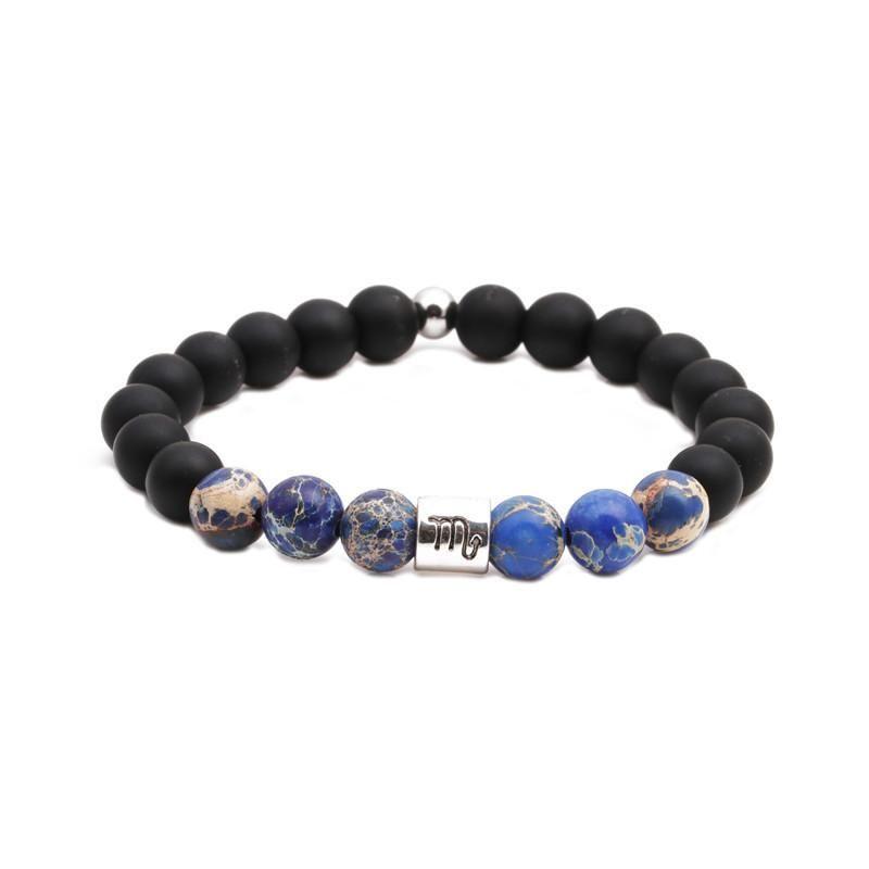 Twelve Constellation Couple Bracelets Natural Emperor Stone Beaded Black Frosted Bracelet DIY Men and Women NHYL199476