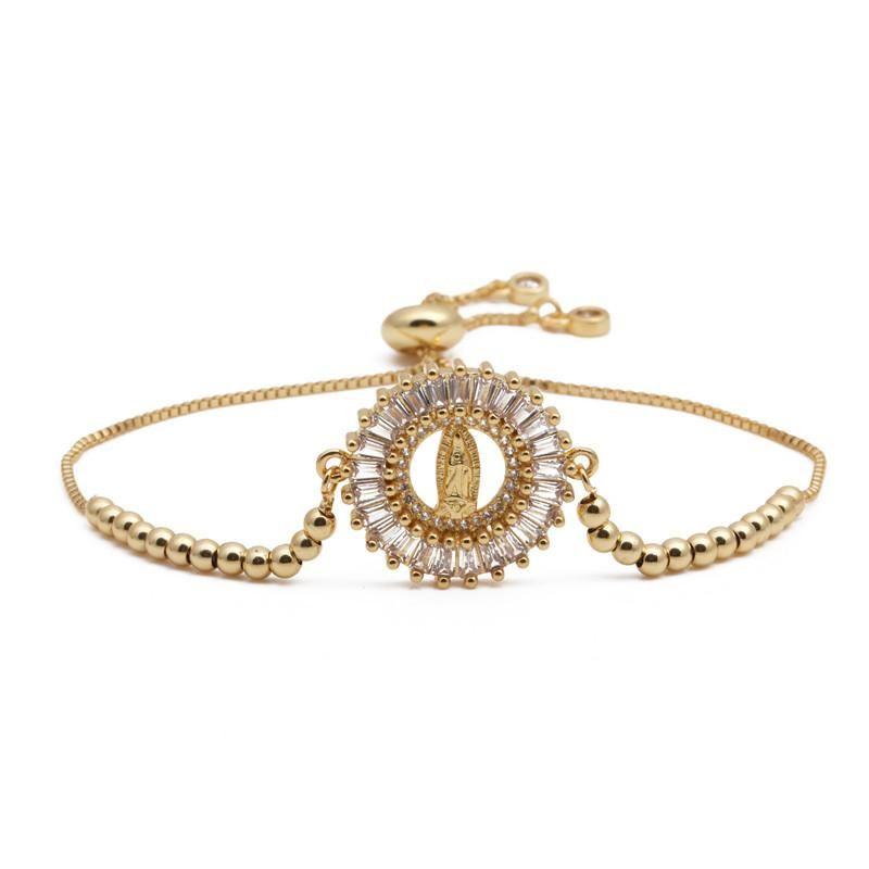Fashion Copper Micro Inlaid Zirconium Bracelet for Women NHYL199487