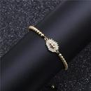 Fashion Micro Inlaid Zircon Bracelet Copper Bead Woven Beaded Bracelet NHYL199489