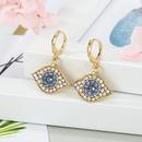 Fashion Jewelry Small Diamond Devils Eye Earrings Turkish Earrings Alloy Earrings Earrings NHGO199491