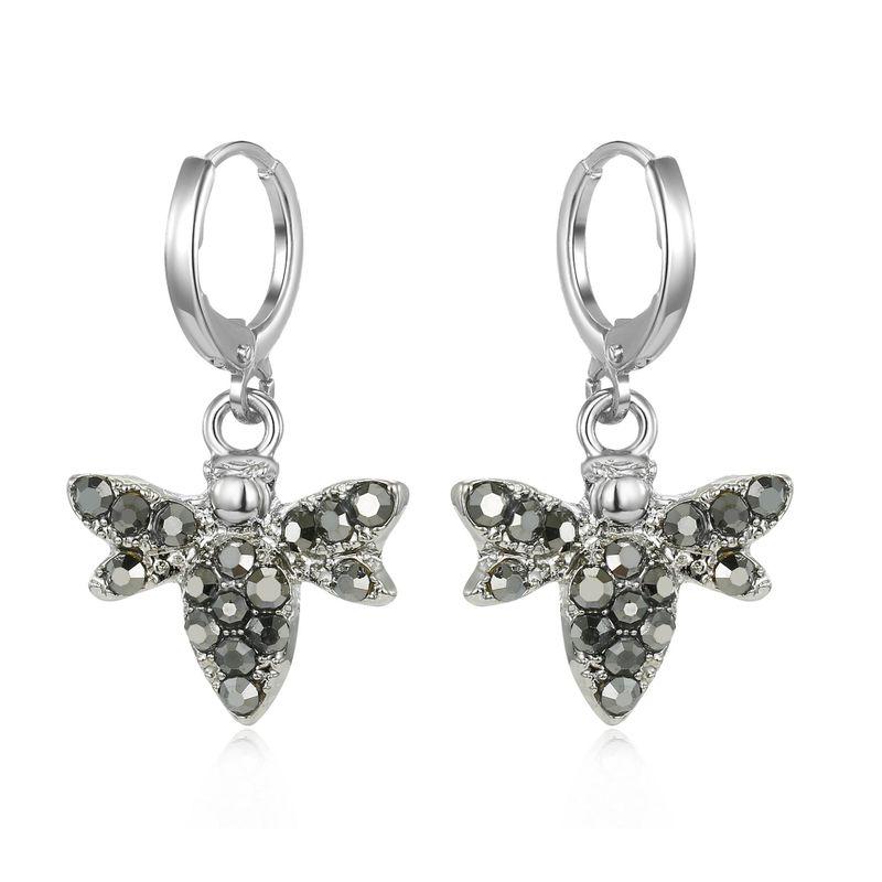 Fashion Petite Diamond Bee Earrings Personalized Animal Earrings Alloy Earrings NHGO199492