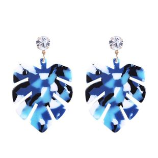 Nihaojewelry New Acrylic Stud Ear Turtle Leaf Earring Personality Accessories NHMD199496's discount tags