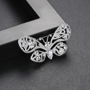 Fashionable Korean creative new copper inlaid zirconium ladies brooch butterfly clothing accessories pin NHTM199516