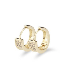 Nihaojewelry new fashion copper electroplated three-row zirconium round earring NHBP199530