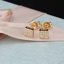 Nihaojewelry New Fashion Copper Plating Small Heart Shaped White Zirconium Color Zirconia Stud Earrings NHBP199536