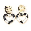New love pendant horsehair leopard patch heart earrings Fashion earrings women NHHM199540