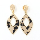 New earrings Wholesale Fashion Horsehair Leopard Leather Leaf Earrings NHHM199541