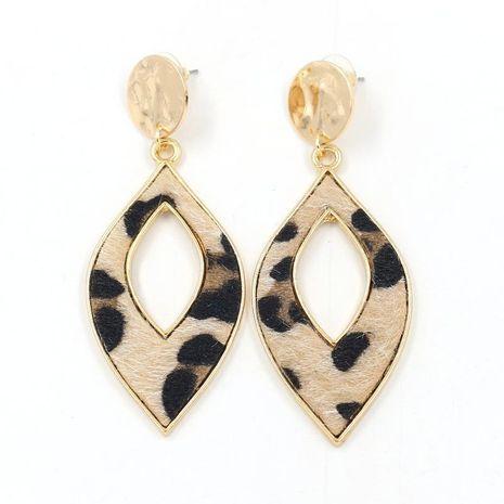 Nouvelles boucles d'oreilles en gros mode crin de cheval léopard feuille de cuir boucles d'oreilles NHHM199541's discount tags