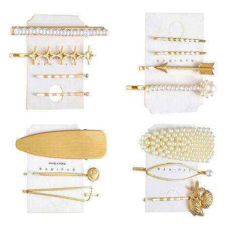 Hot hair accessories hair clip set pearl hair clip Fashion women's hair clips set NHHN199560's discount tags