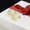 Nihaojewelry New Fashion Copper Electroplated Zirconium Stud Earrings NHBP199561