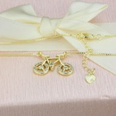 Hot Sale Zirconium Inlaid Bicycle Necklace Fashion New Copper Plated Bicycle Pendant NHBP199566