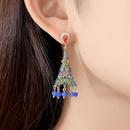 Retro new zircon earrings fashion party ladies national wind bell earrings NHTM199582