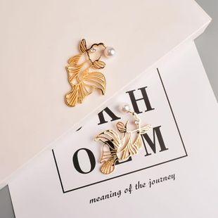 Pendientes de moda pendientes de diamantes pez perla 925 aguja de plata pendientes de mujer NHYT199596's discount tags