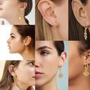 Creative Heartshaped Ear Hoop Earrings New Trend Street Shooting Earrings Set NHPJ199623