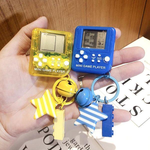 Mini handheld game console keychain pendant Tetris childhood nostalgia small gift pendant NHCB199172