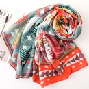 Cotton and linen scarf in spring and summer new color geometric rhombus hit color shawl dualuse sunscreen NHGD199214