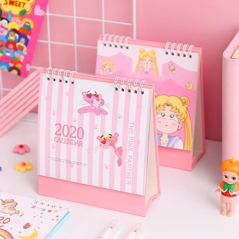 Small Calendar Student Female Desktop Decoration Mini Cute Desk Calendar Monthly Calendar Notepad Daily Plan Decoration NHZE199236