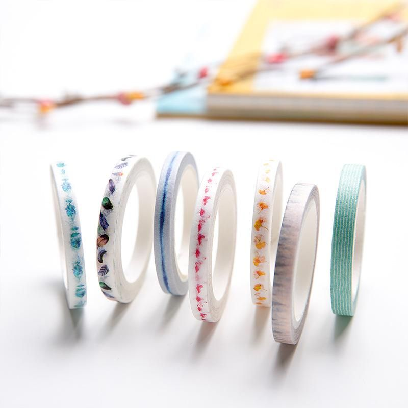Hand tear-free ultra-fine and paper tape color hand-lace laceable decorative stickers NHZE199248