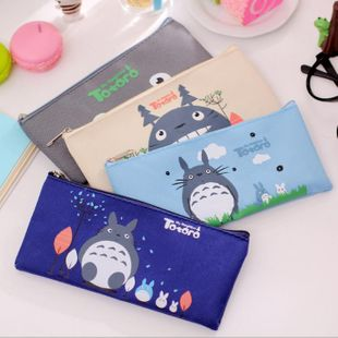 Cartoon Canvas Miyazaki Pencil Case Cute Girl Student My Neighbor Totoro Pencil Bag Wholesale NHZE199260's discount tags