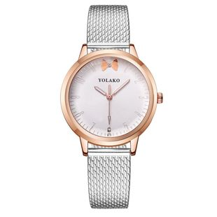 New PVC strap decorative watch female bow quartz casual ladies watch NHSY199305's discount tags