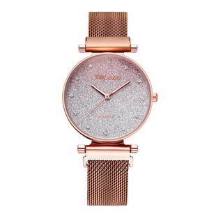 Women's Watch with Diamond Magnet Milan Fashion Star Gradient Quartz Bracelet Watch NHSY199314's discount tags