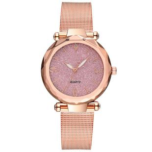 Fashion angular mirror ladies fashion watch ladies watches without logo glitter pink quartz watch NHSY199319's discount tags