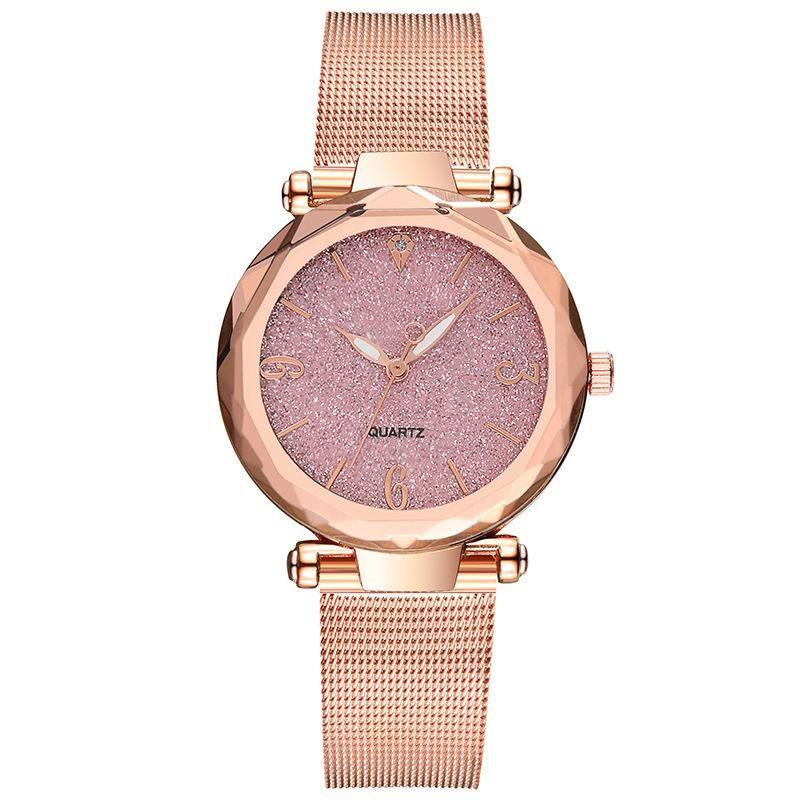 Fashion angular mirror ladies fashion watch ladies watches without logo glitter pink quartz watch NHSY199319