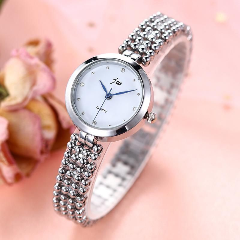 Fashion Alloy Fine Band Quartz Bracelet Watch Female Diamond Women's Watch NHSY199320