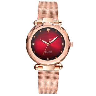 Fashion Multilateral Mirror Ladies Mesh Belt Watch Ladies Watch Set with Diamond British Watch Explosion Model Women's Watch NHSY199321's discount tags