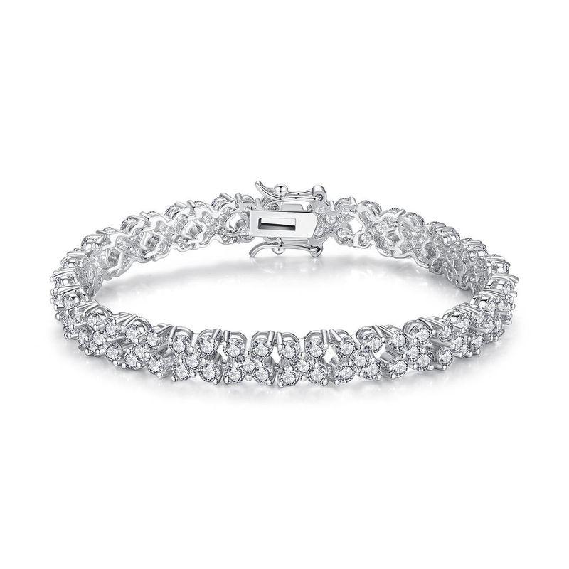 Fashion AAA Zircon Inlaid Flower Bud Bracelet Crystal Bracelet Lady Bracelet NHTM199518