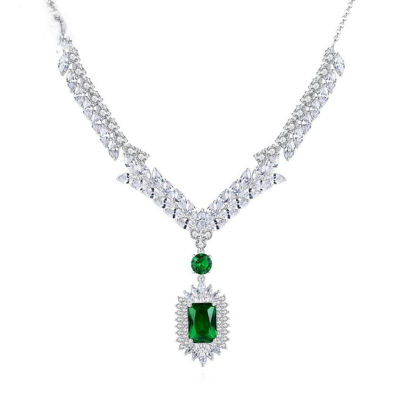 Fashion Fashion Banquet Bridal Set Necklace Wild Women Wedding Jewelry Gift NHTM199513