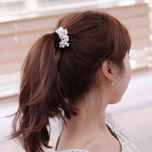 Korean fashion sweet wild ball bud pearl hair rope elastic hair accessories hair rope NHSC204343's discount tags