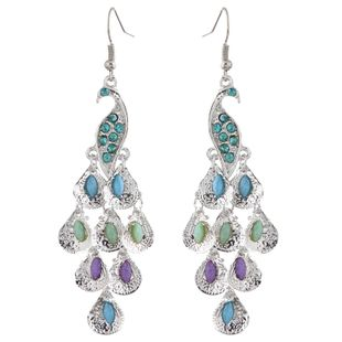 Fashion Metallic Simple Peacock Earrings Wholesale NHSC204339's discount tags
