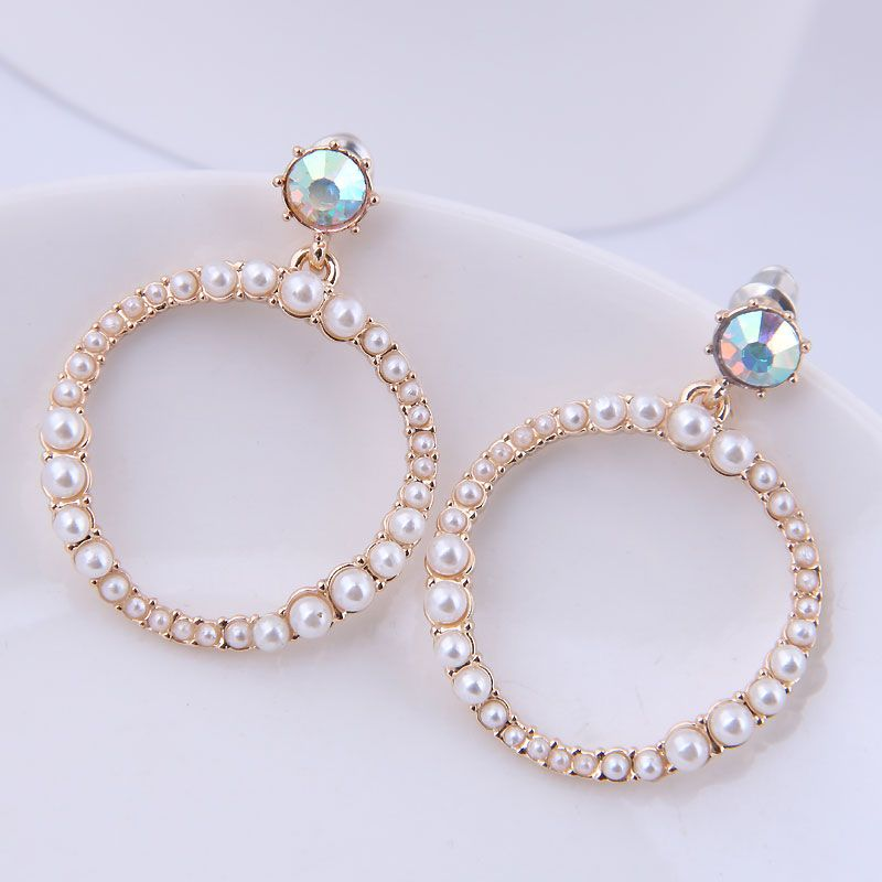 925 Silver Pin Korean Fashion Sweet Simple Pearl Earrings Wholesale NHSC204337