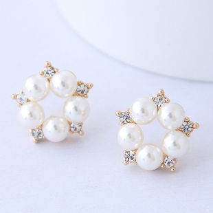 Pendientes de perlas de flores simples de moda coreana al por mayor NHSC204329's discount tags