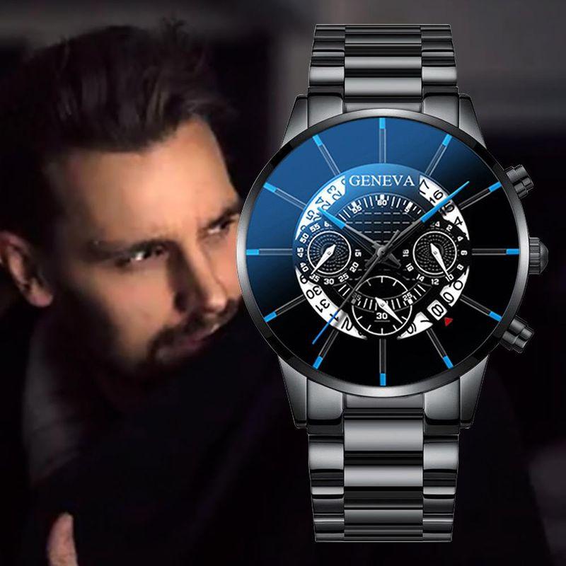 New Ghost Head Men's Steel Band Watch Business Calendar Quartz Watch Men's Wholesale NHHK203870