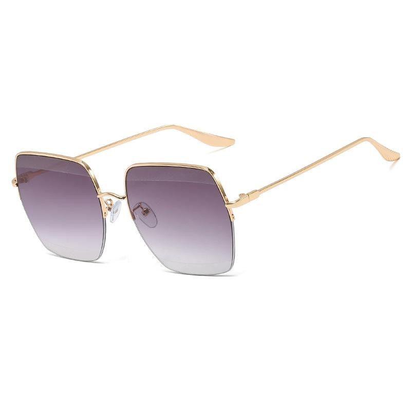 New Square Sunglasses Women Half Frame Trimmed Sunglasses Wholesale NHFY203885