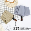 Tenbone log umbrella 30 off fullautomatic sunny umbrella folding umbrella male business solid wood retro umbrella NHNN203926
