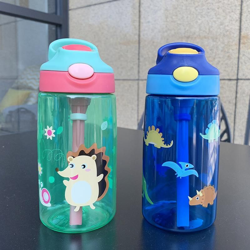 Children's cartoon drinking cup baby sippy cup leak-proof cup drinking water portable kettle duckbill cup plastic cup NHtn203951