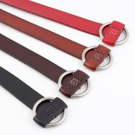 Needle-free punch-free leather ladies belt casual decorative belt fashion cow two-layer belt women NHPO203972