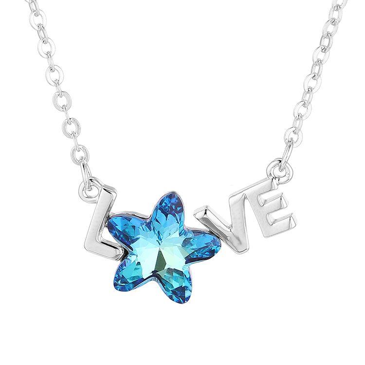 New Fashion Simple LOVE Pentagram Necklace Wholesale NHSE204000
