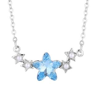 New Fashion Pentagram Crystal Necklace Wholesale NHSE204002