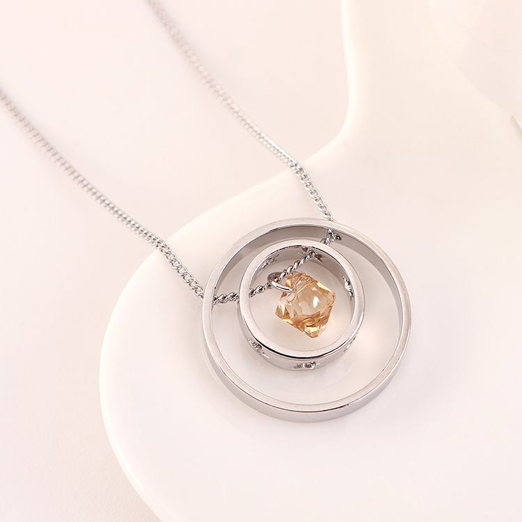 New fashion simple light crystal necklace wholesale NHSE204025