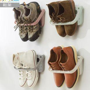 Étagère à chaussures pliante multifonctionnelle étagère murale étagère de stockage de pantoufle NHJA204046's discount tags