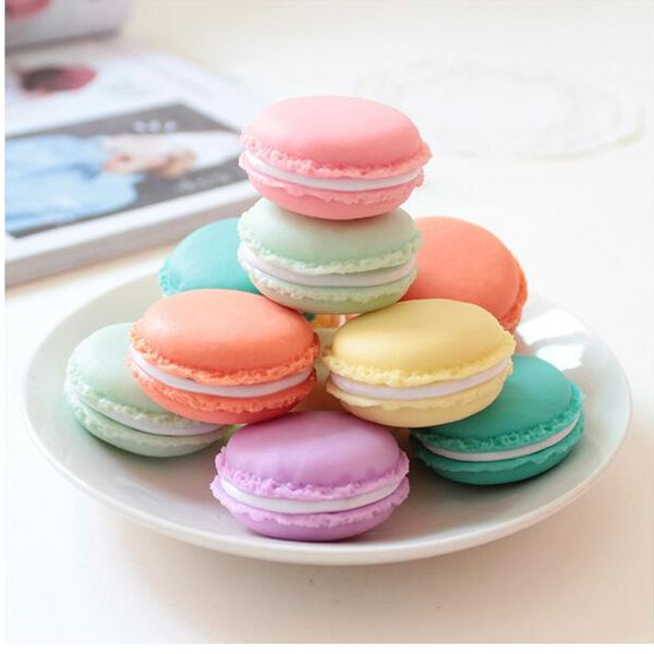 Macaron mini jewelry box portable sundries storage box home pill box trumpet NHJA204055