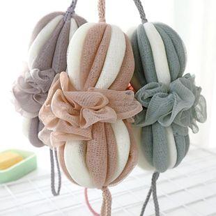 Rubbing artifact long bath flower bath ball color bar bubble bath ball soft lantern bath ball NHJA204059's discount tags