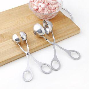 Bouilloire en acier inoxydable fabricant boulette de viande clip bricolage boule de poisson moule alimentaire clip cuisine créative pilule fabricant NHJA204066's discount tags